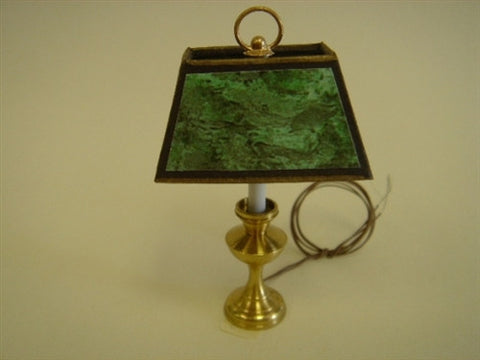 Table Lamp Large with Green Marble Shade
