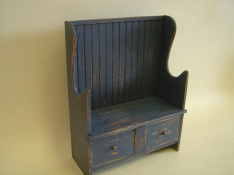Rustic Blue Bench