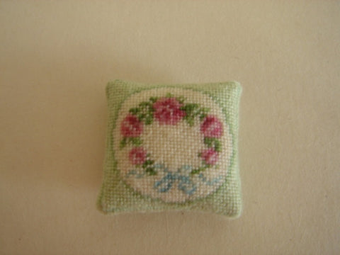 Pillow, Micro Stitched, Green