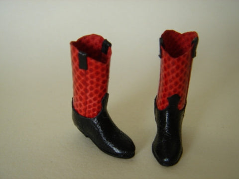 Cowboy Boots, Red and Black