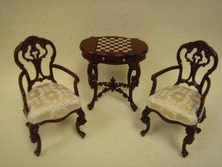 Parlor Chess Table & Chairs