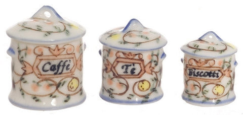 Canister Set with Yellow and Blue Flowers