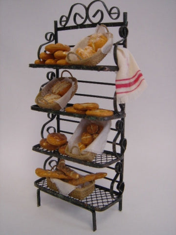 Bakers Rack With Breads