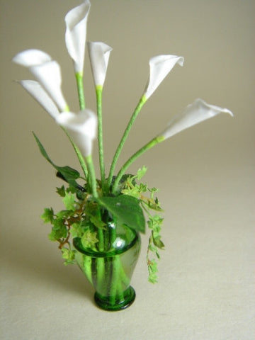 Vase with Cala Lillies