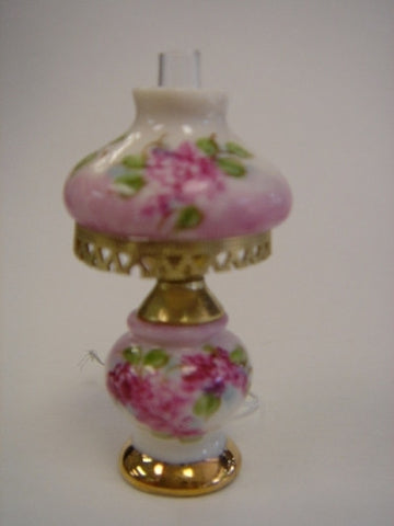 Niglo Table Lamp with Porcelain Base, Pink Roses