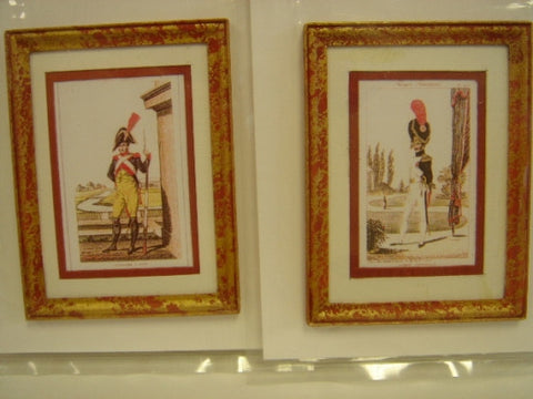 Prints, Pair of French Miltary