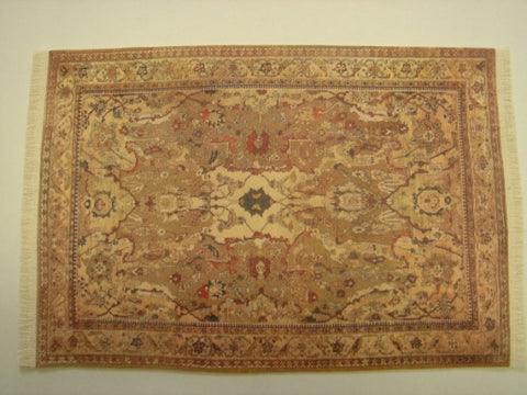 Oriental Rug,  Soft Earth Tones