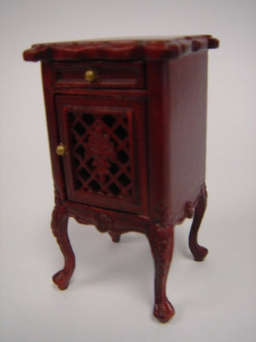 Armorial End Table, Mahogany