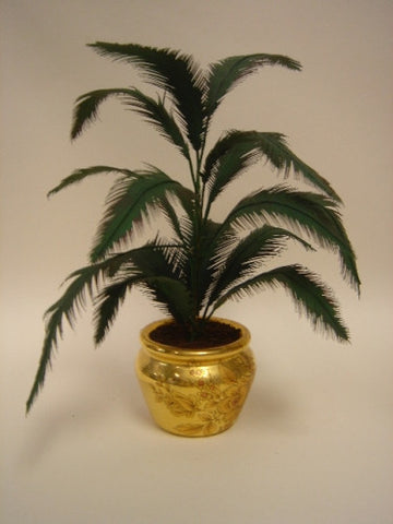 Paula Gilhooley Potted Palm, Gold Pot