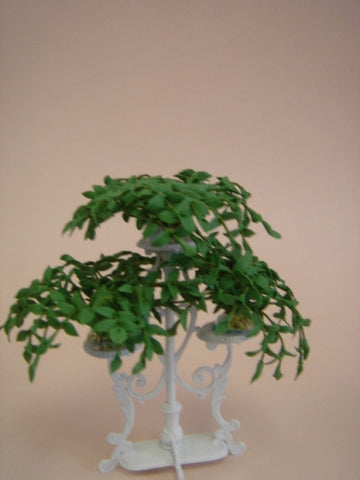 Triple Iron Plant Stand with 3 Ivy Pots