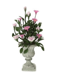 Urn With Pink Flowers