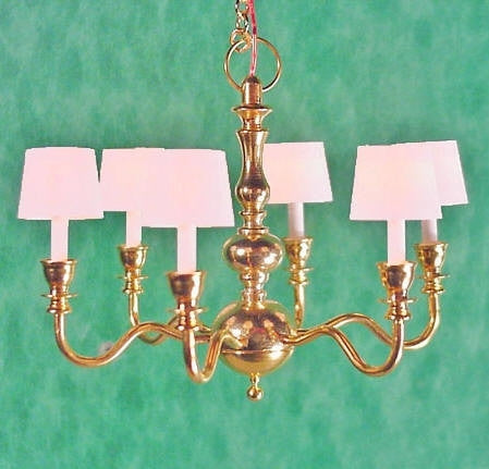 Clare-Bell Six Arm Chandelier with Shades 10% OFF!