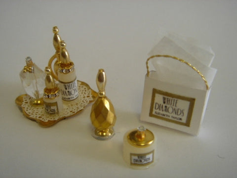 Perfume Set, White Diamonds