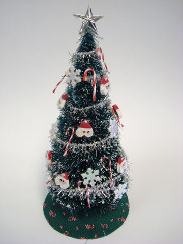 Christmas Tree, Santa Ornaments