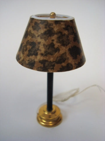 Lamp, Art Deco Table Lamp, Leopard Shade