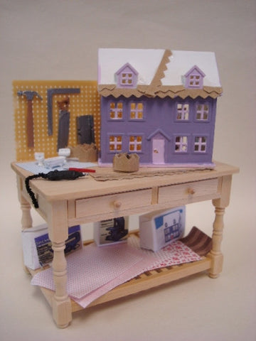 Dollhouse Work Bench, Lavender House