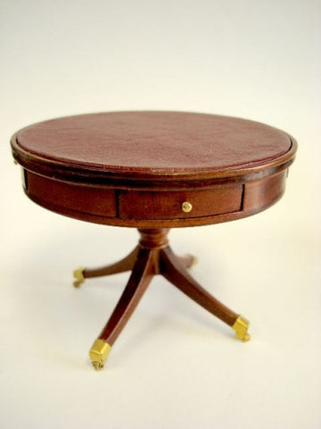 Round Pedestal Drum Table, New Walnut SOLD OUT