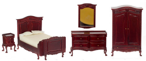 Chateau Lorraine Bedroom Set,  Mahogany ON SPECIAL