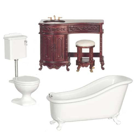 Avalon Bath Set, Platinum Collection, Mahogany