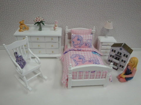 Bedroom Set, Kids Single, Pink Pony