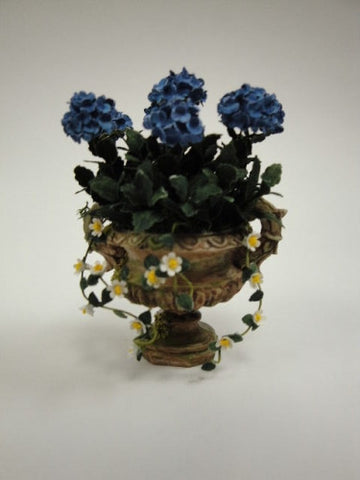 Urn with Blue Hydrangeas