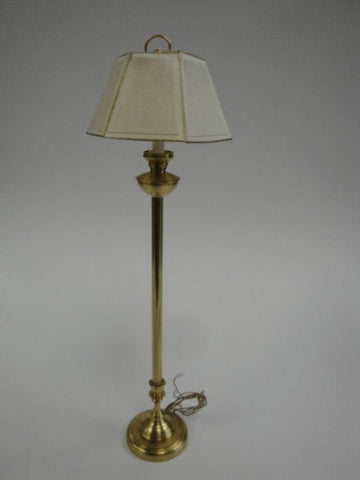 Floor Lamp, White Moire Shade