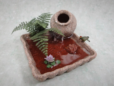 Garden Fountain with Pottery