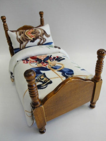 Twin Bed with Cowboy Theme