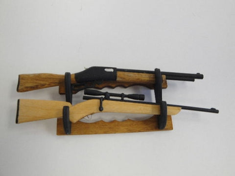Gun Rack with Shotgun and Rifle
