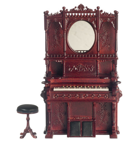 Victorian Style Organ with Stool, Mahogany