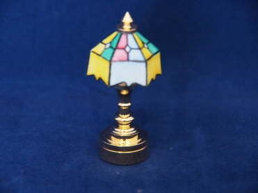 Tiffany Table Lamp, Multi Shade, Battery Powered
