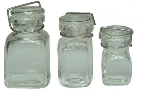 Canning Jars, Square Glass