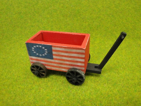Wooden Wagon with Flag Design