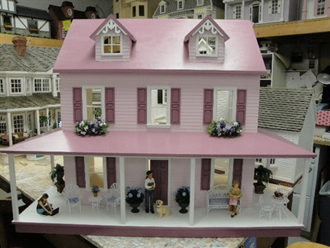 The Jessica Dollhouse in Pink and Plum SOLD!
