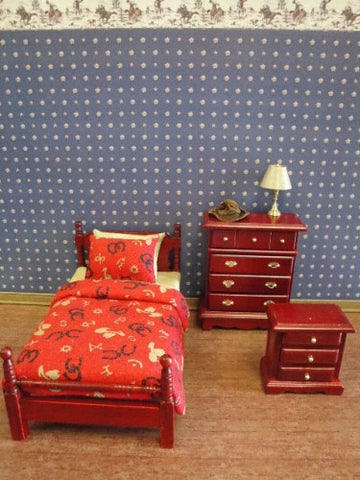 Bedroom Set, Three Piece Cowboy Theme