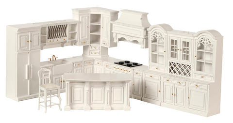 Formal Kitchen, Eleven Piece Set, White
