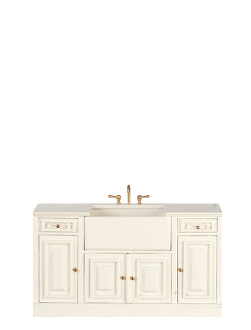 Formal Kitchen Sink, White