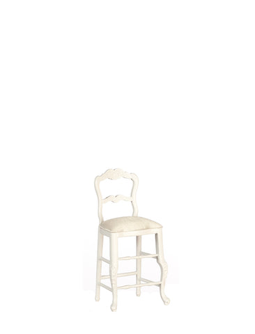 Formal Tall Kitchen Chair, White