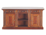 Formal Kitchen Island, Walnut Finish