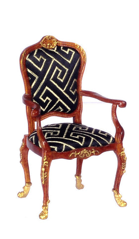 Arm Chair with Gold Trim