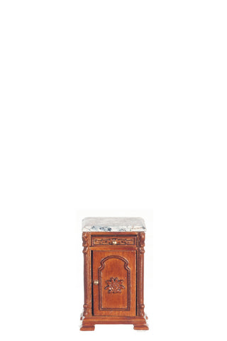 Ri Mauldie Bedside Table, White, Manufacturers Marble