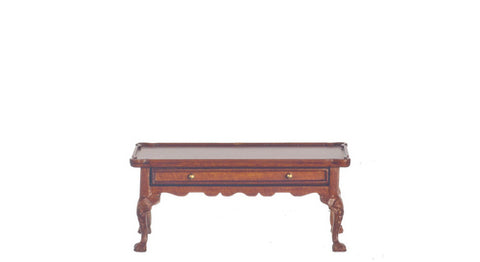 Windsor Coffee Table with Drawer, Walnut Finish