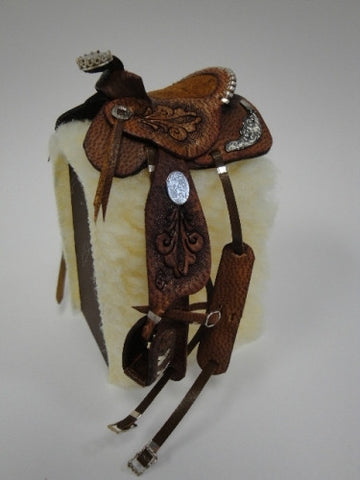 Saddle with Sterling Silver Details