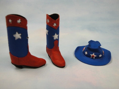 Red White and Blue Cowboy Set