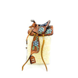 Western Saddle with Silver and Turquoise