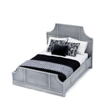 Modern Bed with Black and Grey Linens