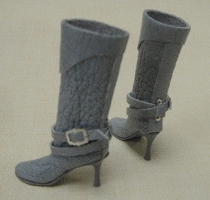 Leather Boots, Grey, by Patrizia Santi