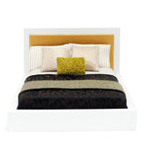 Modern Platform Bed with Gold and Brown