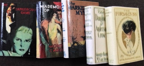 Mystery Novels, Victorian, Set of 5
