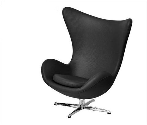 Egg Chair, Black, Jacobean
